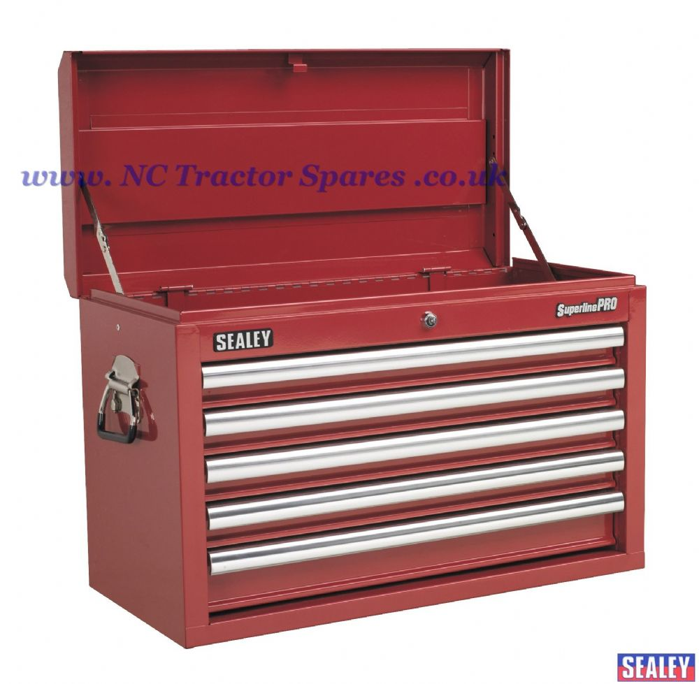 Topchest 5 Drawer with Ball Bearing Runners - Red